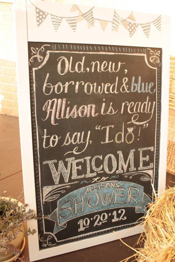 unique chalk signs decorations for rustic bridal shower ideas 2014