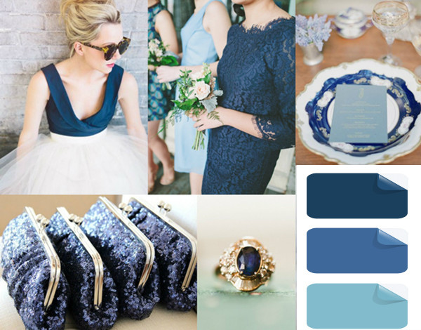vintage prussian blue wedding color trends for 2013 and 2014