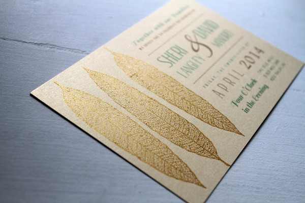 2014 rustic gold wedding invitations with hunt of sparkle