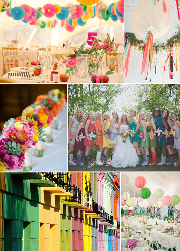 Bright Color Wedding Themes Image Collections Wedding Decoration Ideas