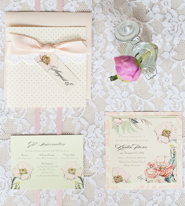 classic and vintage lace and 2014 trending damask pink wedding invitations