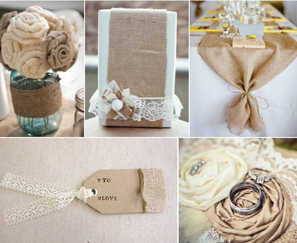 country rustic burlap wedding ideas for 2014 trends