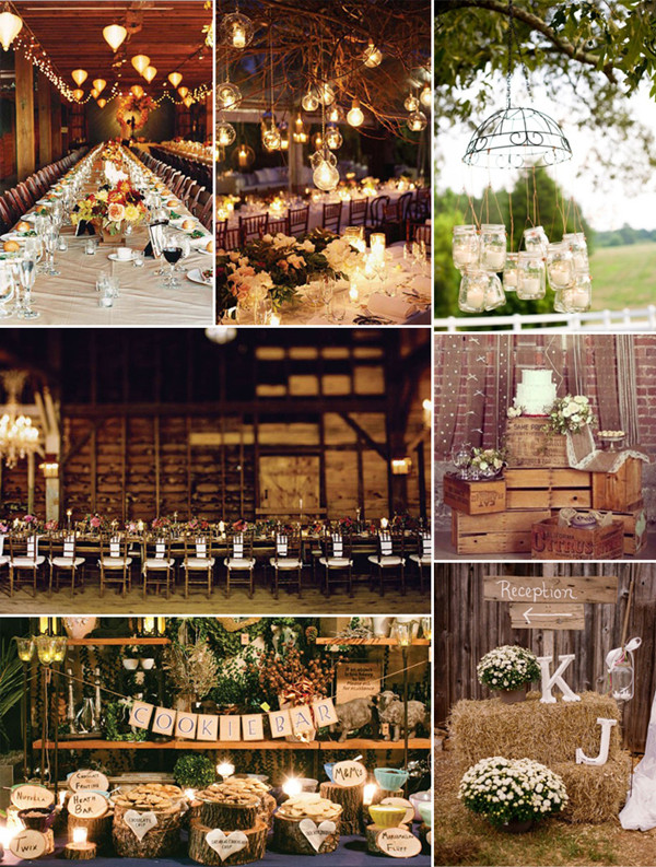 country rustic wedding ideas in barns with wooden decorations & Top 8 Trending Wedding Theme Ideas 2014 u2013 Elegantweddinginvites.com Blog