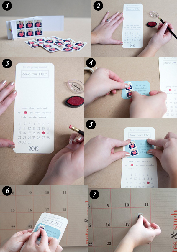 directions of diy instagram calendar stickers save the date ideas