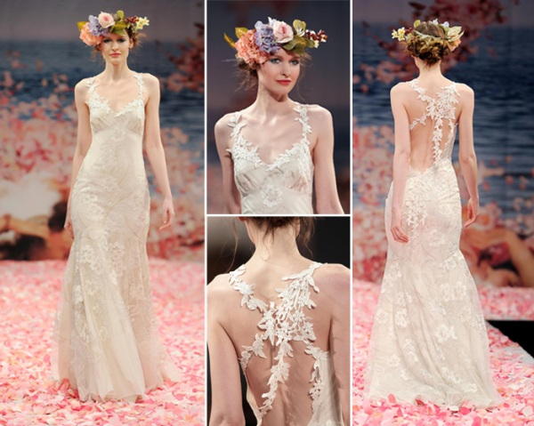 floral embroidered gvipure vine straps vintage mermaid wedding dresses