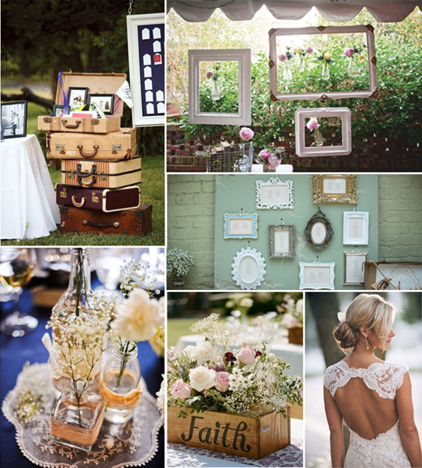 Retro Frames And Suitcases Vintage Wedding Ideas 2014