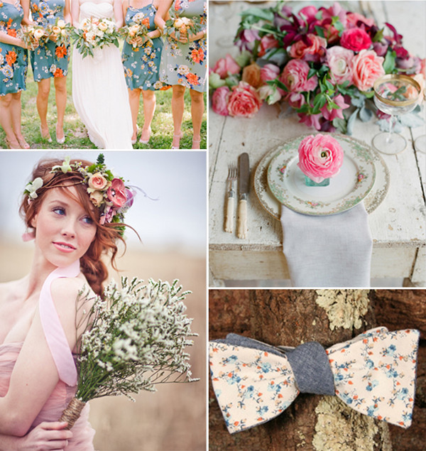 shabby chic boho inspired floral wedding ideas 2014