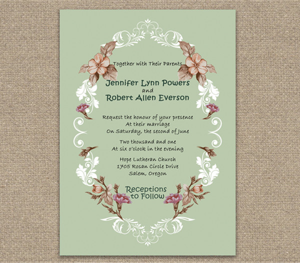 shabby chic vintage floral cheap wedding invitations online