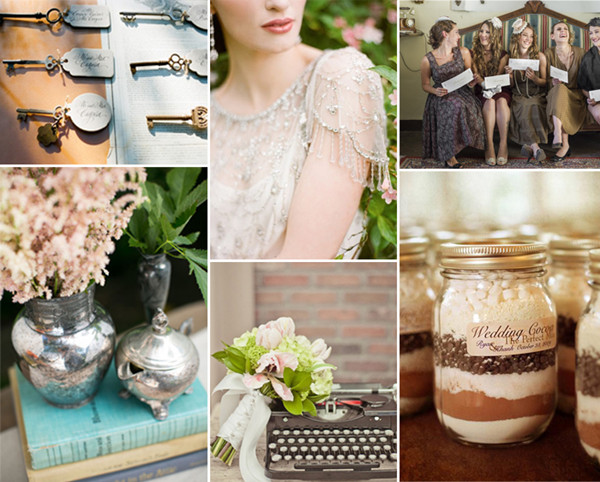 vintage key inspired 2014 rustic neutral color wedding ideas