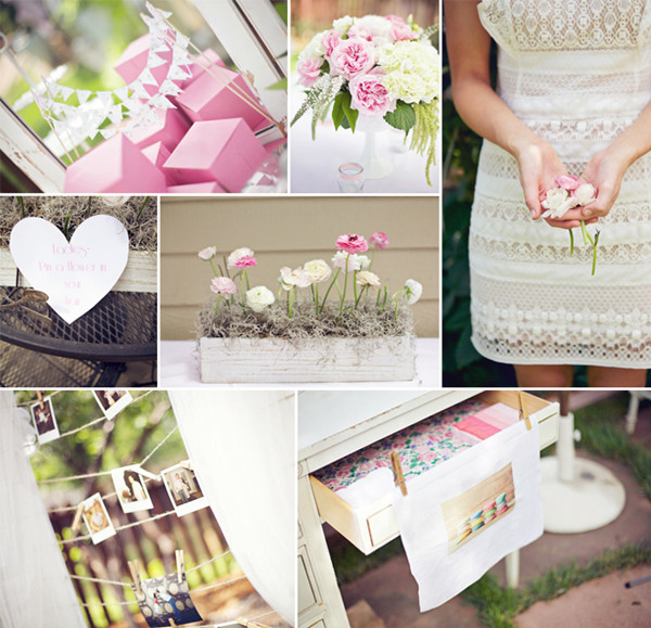 vintage pink bridal shower brunch ideas 2014 trends