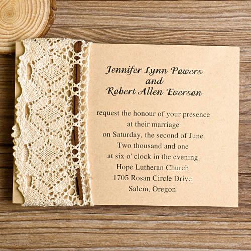 DIY Lace Wedding Invitations Starting from $1.79 at ...