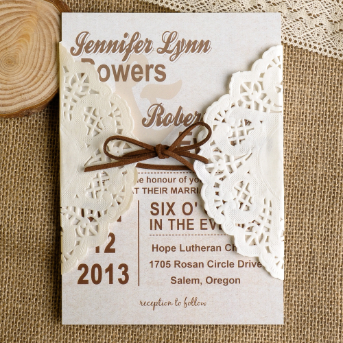 diy lace wedding invitations starting from $1.79 at, Wedding invitations