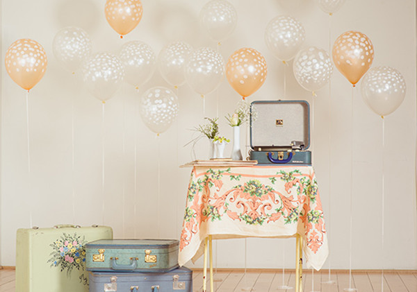 Pink Blush Vintage Balloon Decorations For Bridal Shower Ideas