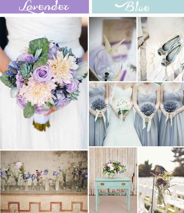 Shabby Chic Light Blue And Lavender Wedding Color Ideas