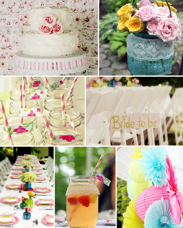 shabby chic vintage floral bridal shower ideas 2014