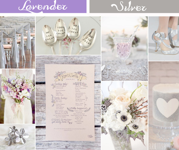 silver and lavender inspired wedding color ideas for winter