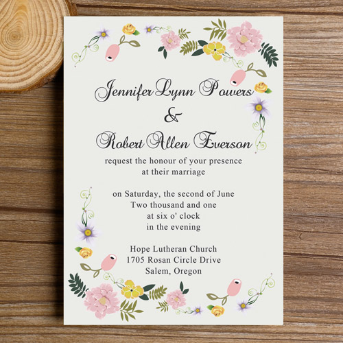 Fabric Inspired Chic Wedding Invitation Cards