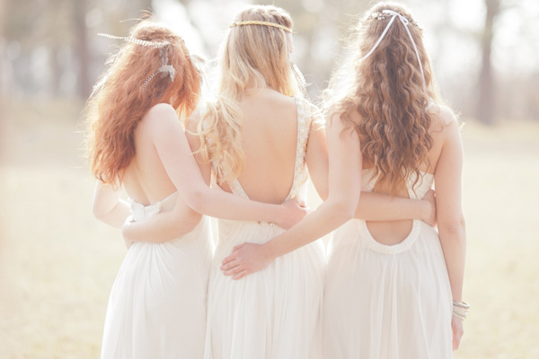 boho wedding hairstyles for brides and bridesmaid
