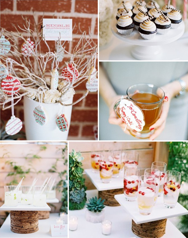 christmas inspired winter wedding food and drinks ideas