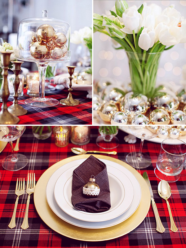 classic red and green christmas theme wedding ideas