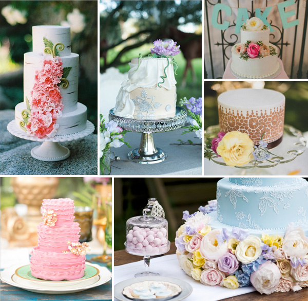 floral wedding cakes for boho theme wedding ideas