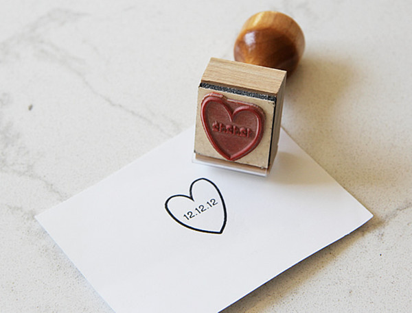 heart stamp for valentine's day themed wedding ideas