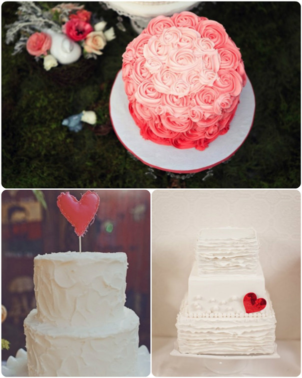 pink wedding cakes for valentine inspired wedding ideas