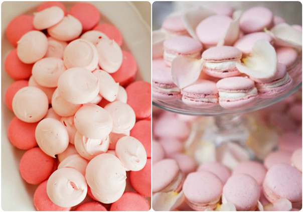 pink wedding food ideas for valentine's day themed weddings