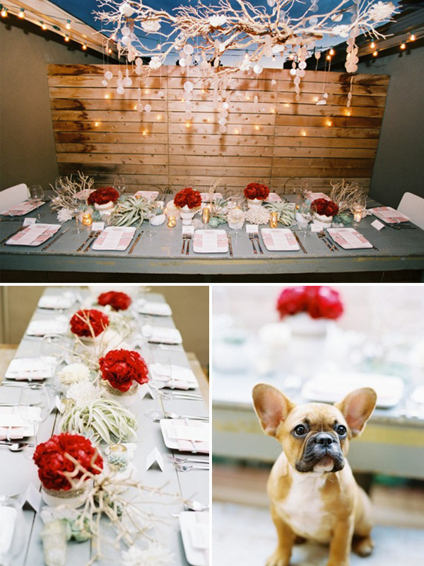 red and white christmas inspired wedding color ideas