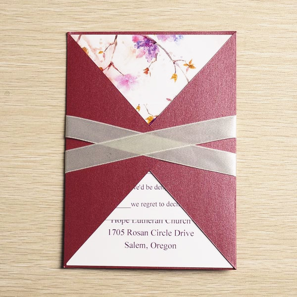 Red Pocket Wedding Invites
