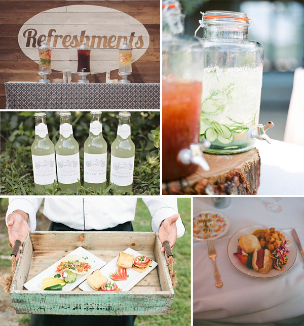 wedding food and drinks for boho theme wedding ideas