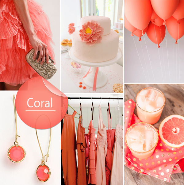 Top 10 wedding colors ideas and wedding invitations for spring 2014 spring trends modern coral wedding color ideas junglespirit Image collections
