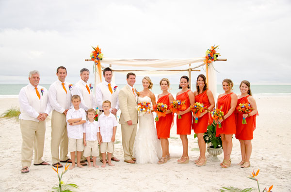 coral bridesmaid dresses for beach theme weddings 2014