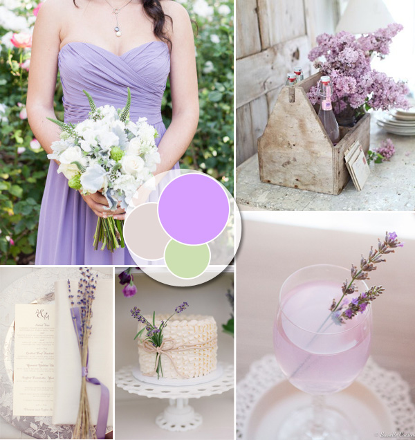 country romantic lavender pastel wedding ideas 2014 trends