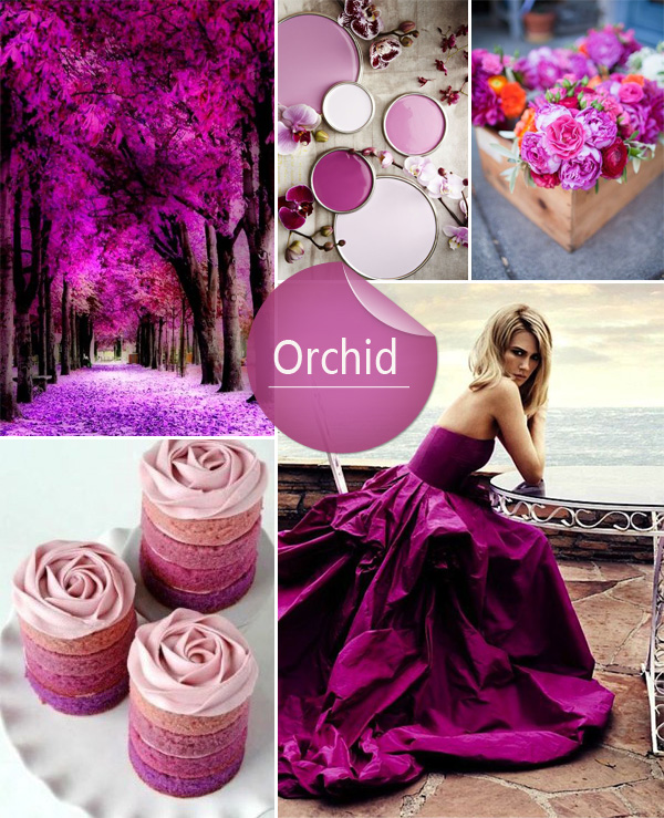 Radiant Orchid Inspired 2014 Spring Wedding Color Ideas