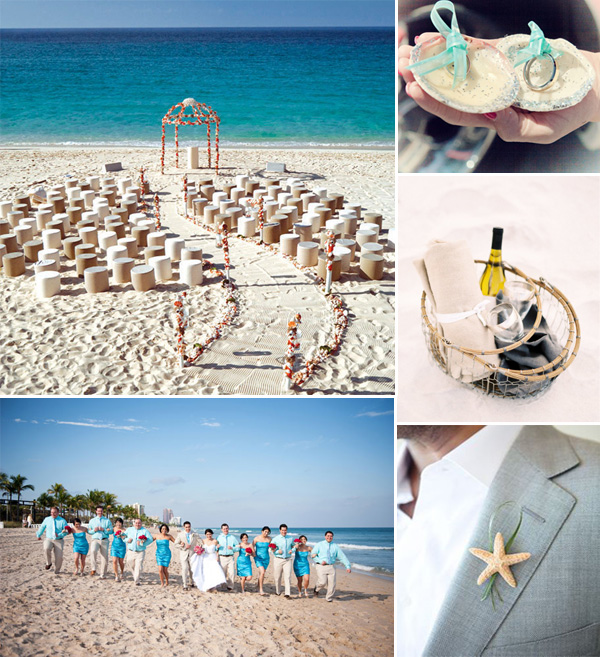 romantic blue beach wedding ideas for summer 2014
