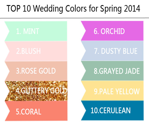 top 10 wedding color trends ideas for spring 2014