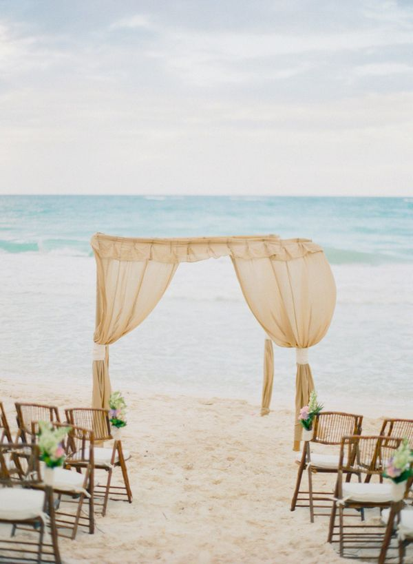 vintage beach theme wedding ceremony ideas for summer 2014
