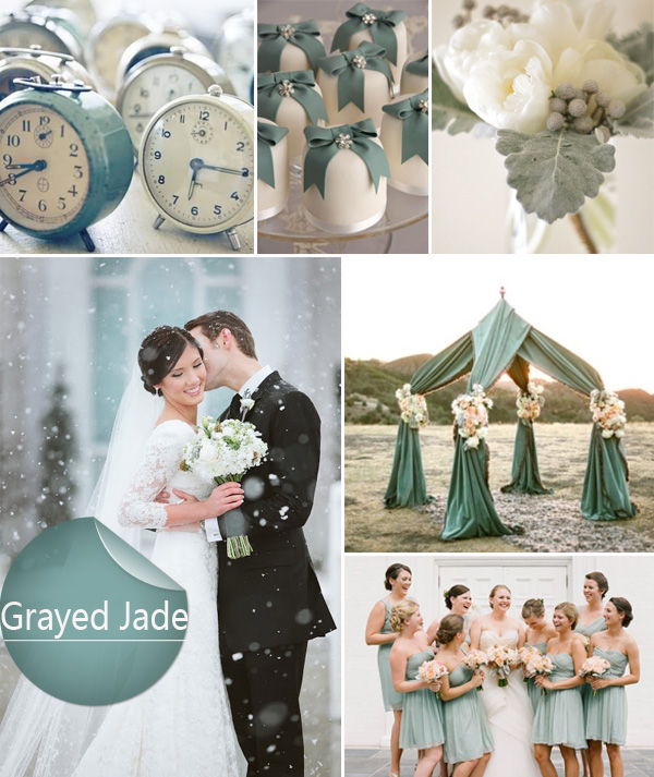 vintage grayed jade wedding color ideas for 2014