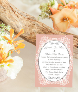 vintage peach wedding invitations for 2014 pastel wedding color ideas