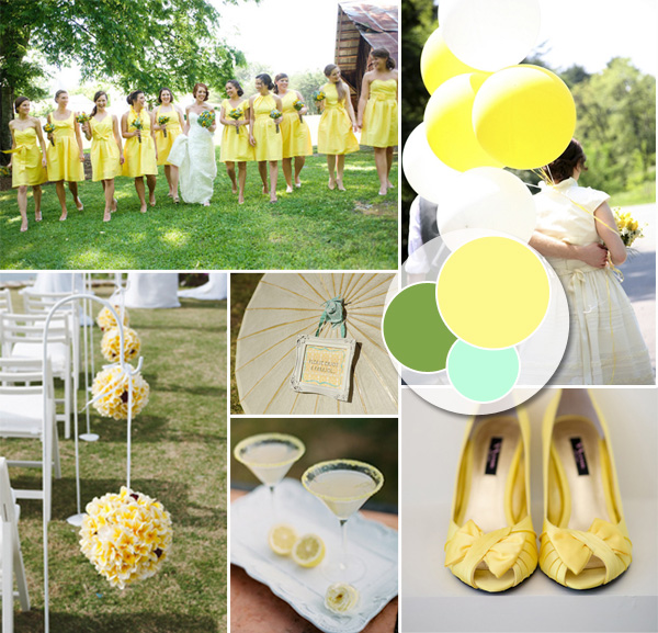 Pastel wedding color ideas and invitations 2014 trends yellow pastel outdoor wedding ideas for summer 2014 junglespirit Images