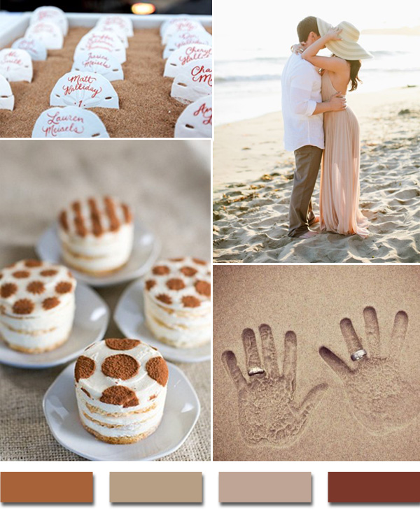 2017 Beach Theme Inspired Sand Summer Wedding Color Ideas