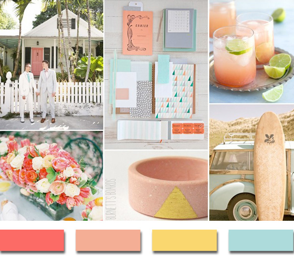 Wedding Color Ideas Summer: Popular Summer/Beach Wedding Color Palettes 2014 Trends