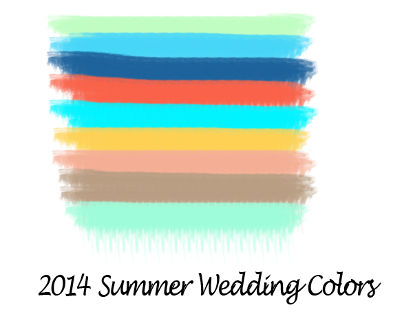 2014 summer wedding color palettes