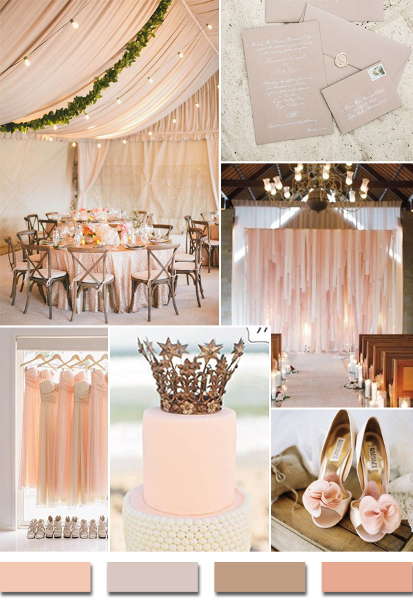 Popular Summerbeach Wedding Color Palettes 2014 Trends