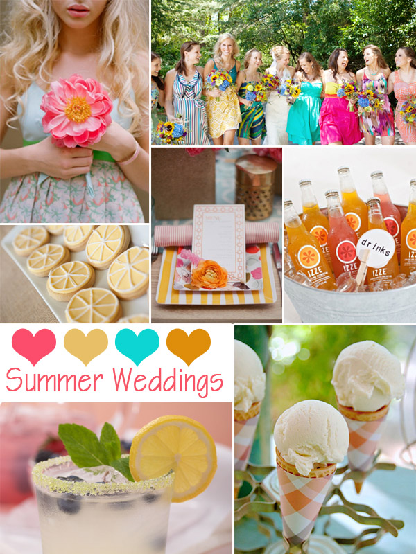 2014 trending summer wedding colors and ideas