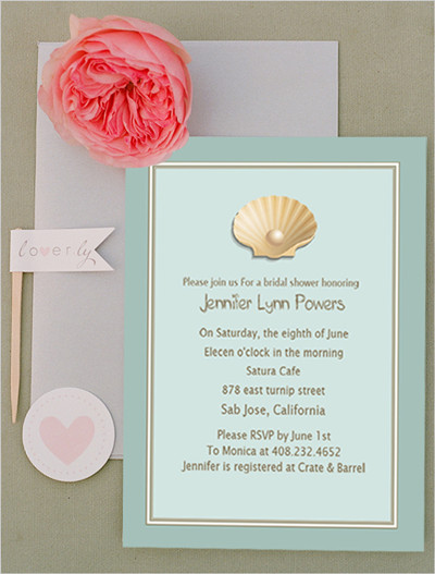Top 10 bridal shower invitations for 2014 at elegantweddinginvites beach theme bridal shower invitations 2014 filmwisefo Choice Image