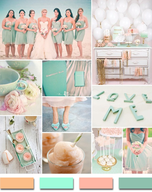 Blush Mint And Pink Summer Beach Wedding Color Ideas 2017