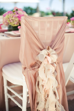 chair decorations for pink wedding reception ideas