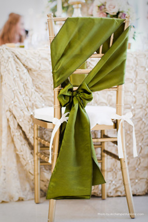 green wedding reception chair decoration ideas for 2014